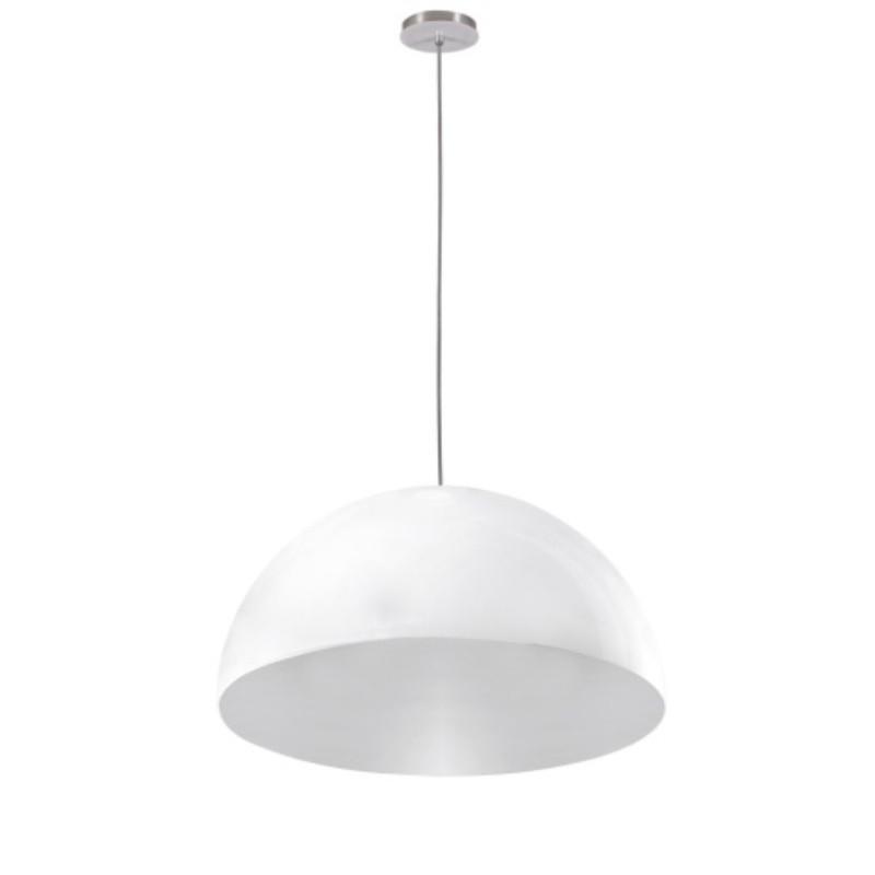 Luminaria Pendente Loral Branca 32cm x 15cm Altura, Lustre de Teto em Promoção