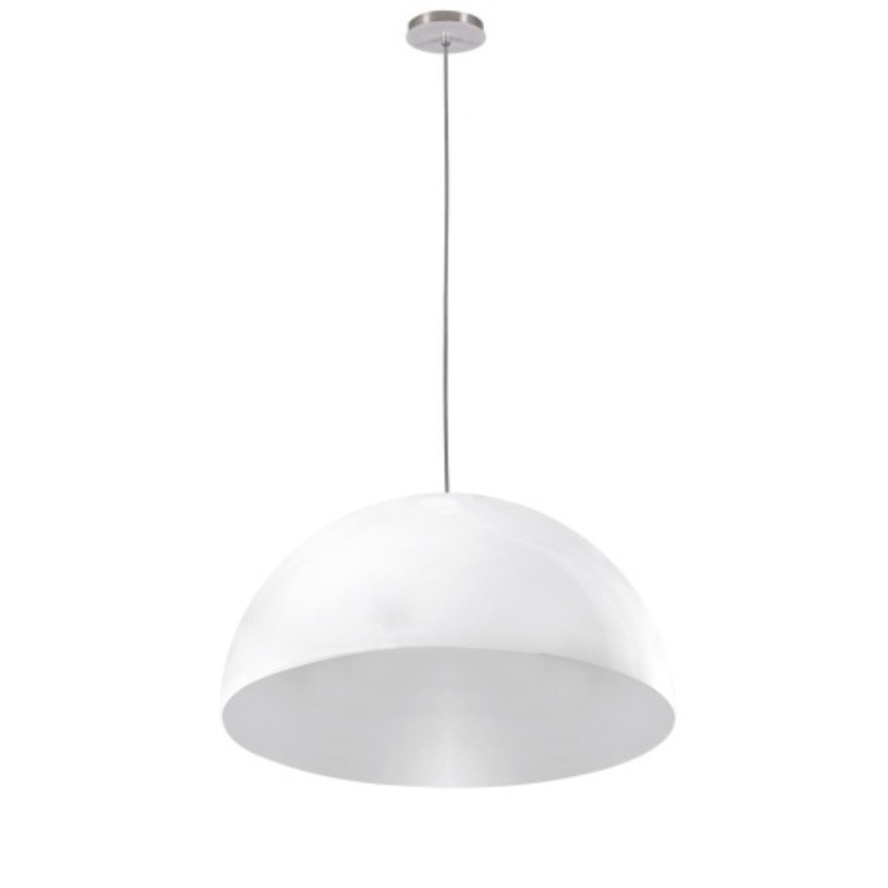 Luminaria Pendente Loral Branca 55cm x 27cm Altura, Lustre de Teto em Promoção