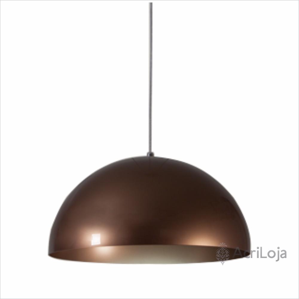 Luminaria Pendente Loral Bronze 60cm x 30cm Altura, Lustre de Teto em Promoção