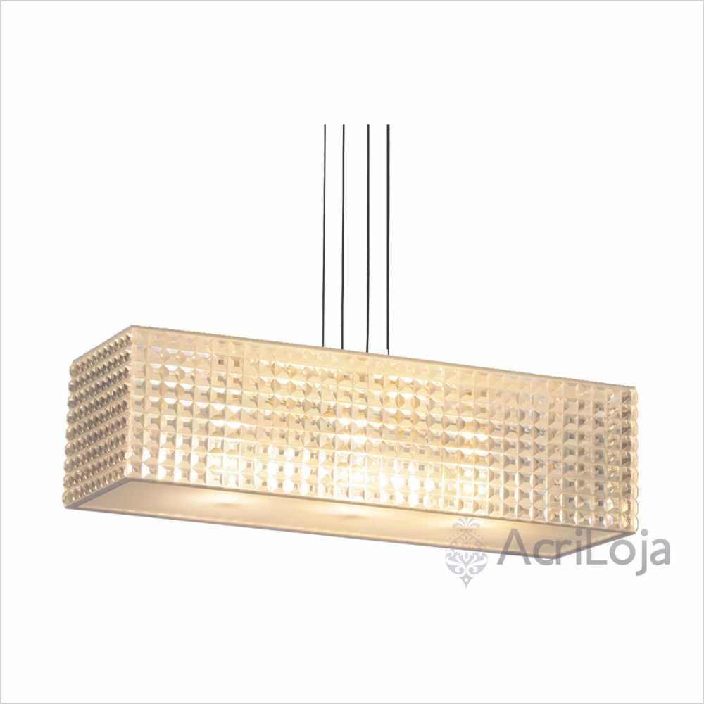 Luminaria Pendente Luce Retangular 126x16cm, Lustre de Teto em Promoção