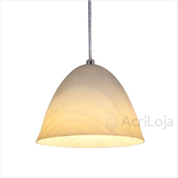 Luminaria Pendente Piccola Acrilico Bege 20cm, Luminária para Bancada de Mesa