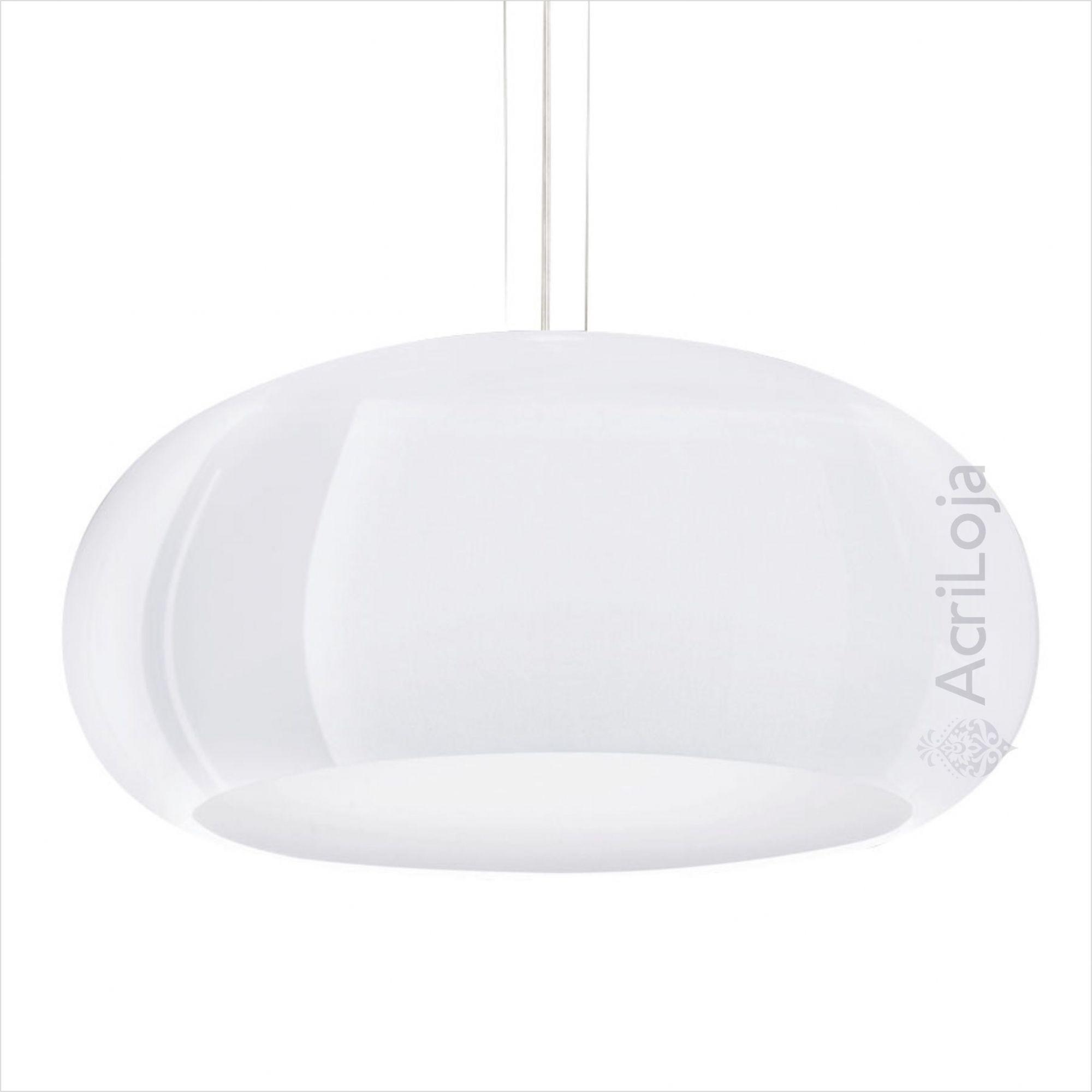 Luminaria Pendente Póllux em Acrilico Branco 100cm, Lustre de Teto