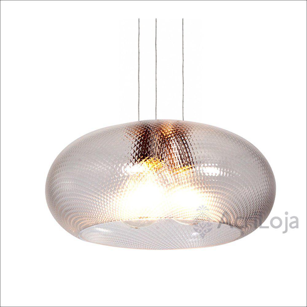 Luminaria Pendente Póllux em Acrilico Prismático 45cm, Lustre de Teto