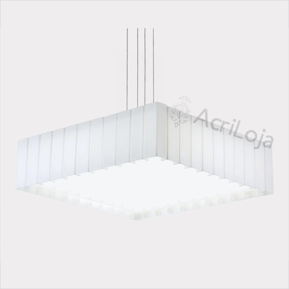 Luminaria Pendente Rafita Branca 57x57cm, Lustre de Teto em Promoção