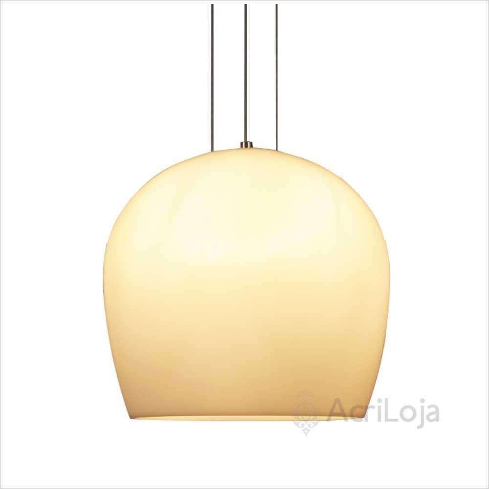 Luminaria Pendente Siena Branco 38cm, Lustre de Teto em Promoção