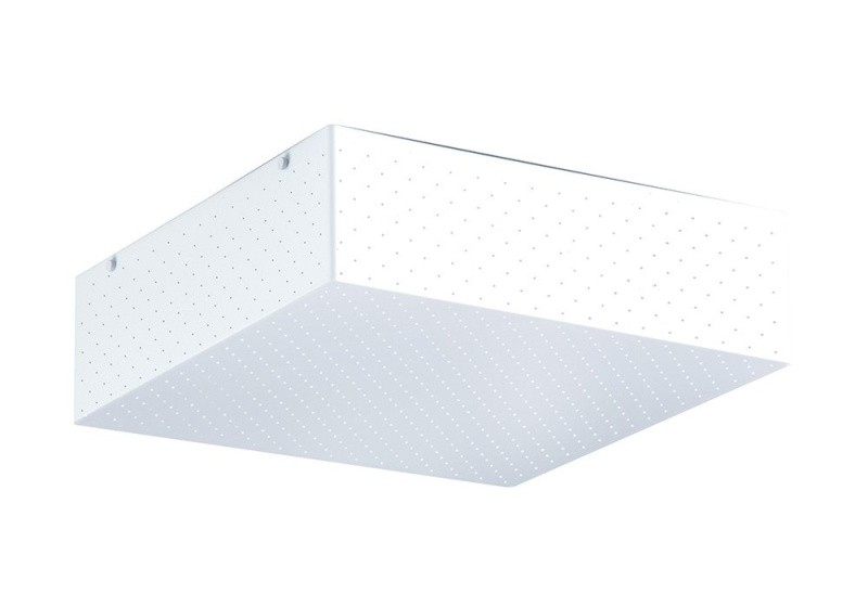 Luminaria Plafon Crux Quadrado Acrilico Branco 62x62 cm, Luminária de teto sobrepor