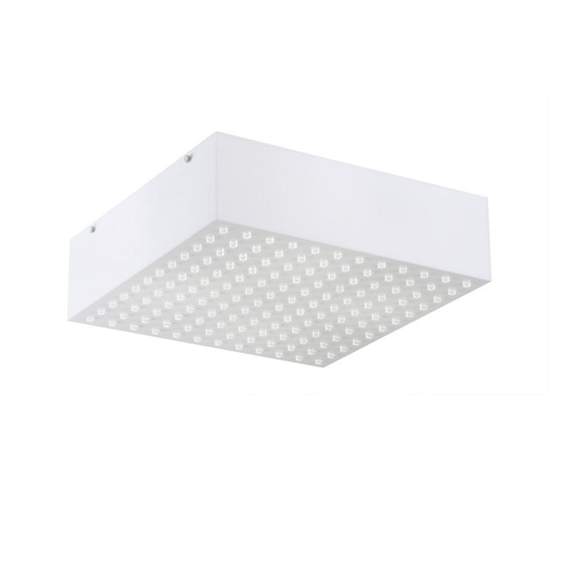 Luminaria Plafon Electra Quadrado Acrilico Branco 44x44 cm, Luminária de teto sobrepor
