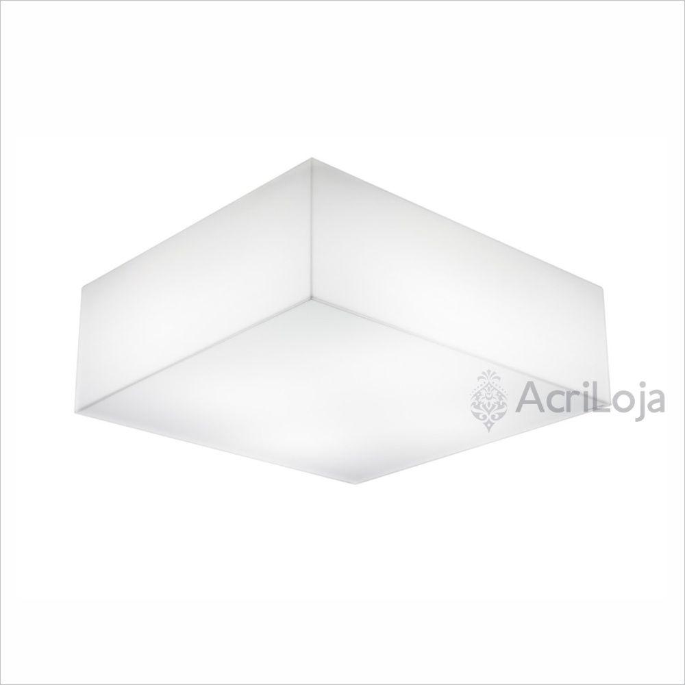 Luminaria Plafon Gama Quadrado Acrilico 48×48 Cm Lumin Ria De Teto
