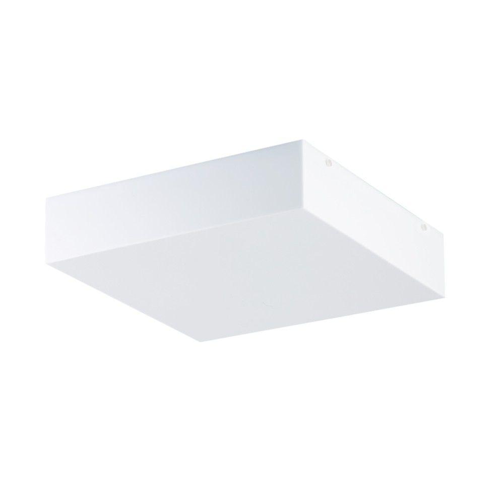 Luminaria Plafon Quadrado Acrilico 20x20 cm, Luminária de teto sobrepor