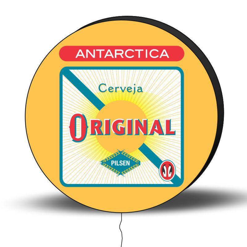 Luminoso de Parede Antartica 40cm Acrilico LED, Luminoso de Bar e Churrasqueira, Luminária, Placa Decorativa de Parede