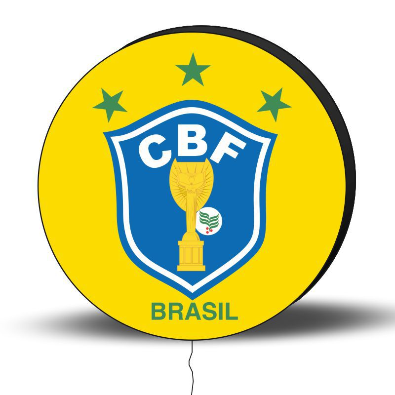 Luminoso de Parede Brasil 30cm Acrilico LED, Luminoso de Bar e Churrasqueira, Placa Decorativa de Parede