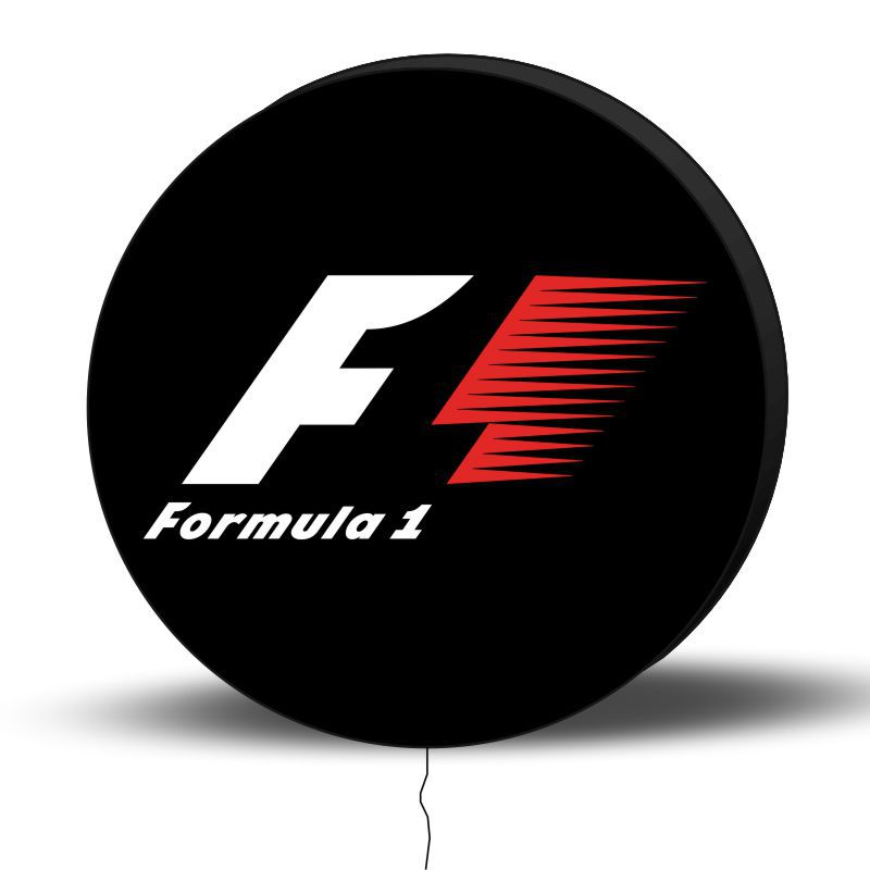 Luminoso de Parede Formula 1 40cm Acrilico LED, Luminoso de Bar e Churrasqueira, Placa Decorativa de Parede