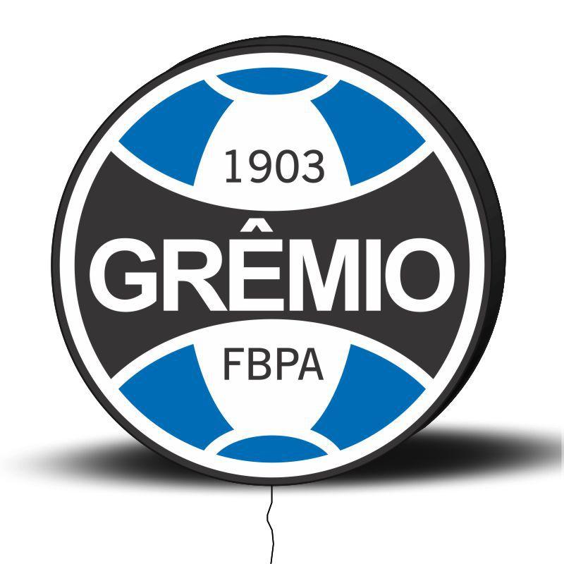 Luminoso de Parede Grêmio 30cm Acrilico LED, Luminoso de Bar e Churrasqueira, Placa Decorativa de Parede