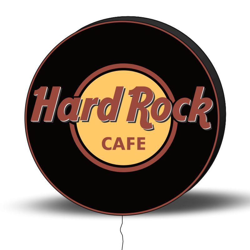 Luminoso de Parede Hard Rock 30CM Acrilico LED, Luminoso de Bar e Churrasqueira, Luminária, Placa Decorativa de Parede