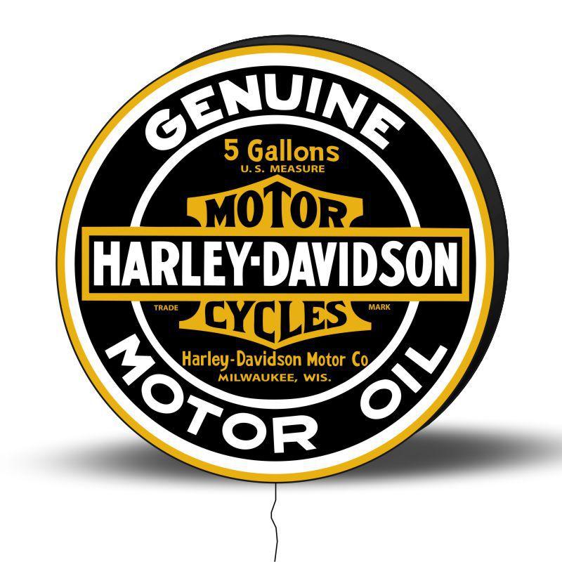 Luminoso de Parede Harley Davidson Retrô 40cm Acrilico LED, Luminoso de Bar e Churrasqueira, Placa Decorativa de Parede
