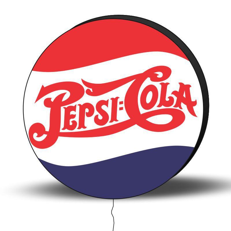 Luminoso de Parede Pepsi 30cm Acrilico LED, Luminoso de Bar e Churrasqueira, Placa Decorativa de Parede