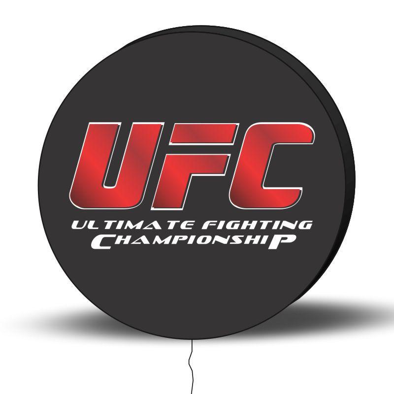 Luminoso de Parede UFC 30cm Acrilico LED, Luminoso de Bar e Churrasqueira, Placa Decorativa de Parede