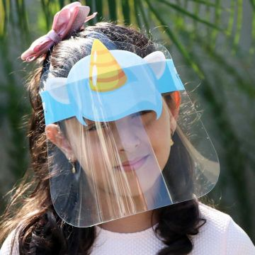 Mascara de Proteção Facial Infantil de 2 a 5 Anos - Face Shield Kids Unicórnio