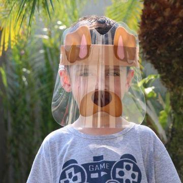 Mascara de Proteção Facial Infantil de 6 a 10 Anos - Face Shield Kids Cachorrinho