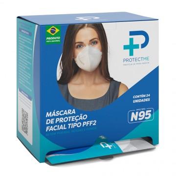 Mascara de Proteção Facial N95 Profissional Sem Valvula Descartável - Caixa com 24 unidades
