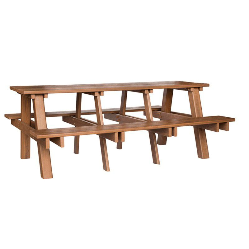 Mesa de Churrasqueira de Madeira plástica Para 6 pessoas - 2,00 metros