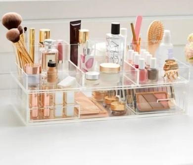Organizador, Porta Maquiagem em Acrilico com Gaveta - Expositor de Maquiagem