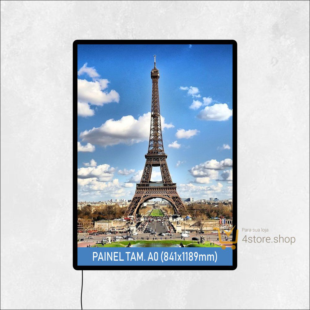 Painel de LED de Parede Tamanho A0 para PDV ponto de venda, quadro, luminoso de parede