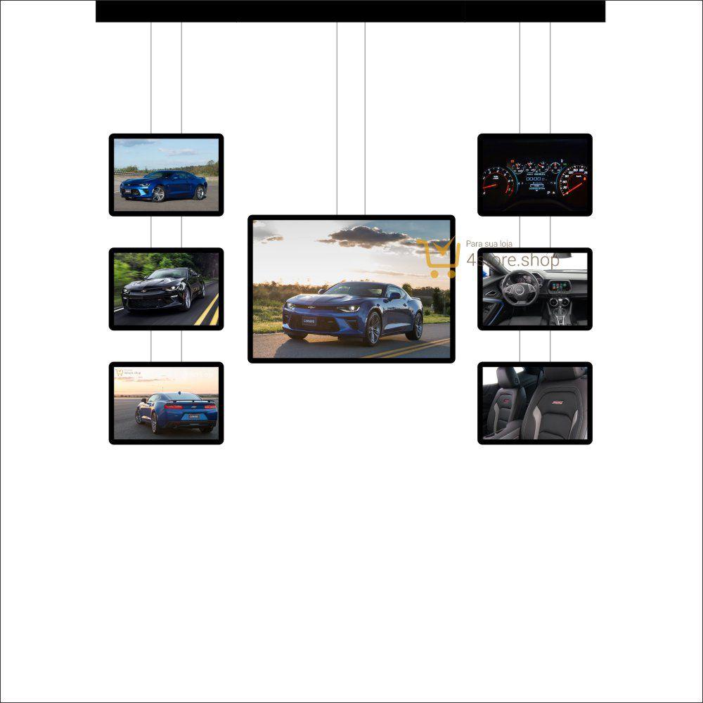 Painel de LED para Vitrines e Fachadas iluminadas de Concessionárias | 1 Display Tamanho A1 + 6 A3