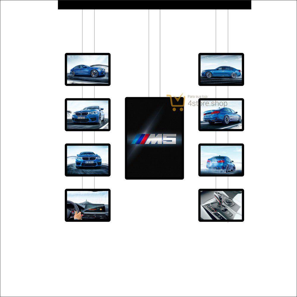 Painel de LED para Vitrines e Fachadas iluminadas de concessionarias | 1 Display Tamanho A1 + 8 A3