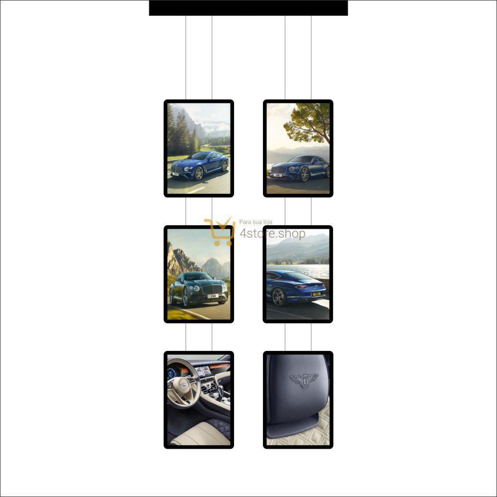 Painel de LED para Vitrines e Fachadas iluminadas de concessionárias | 6 Display Tamanho A3