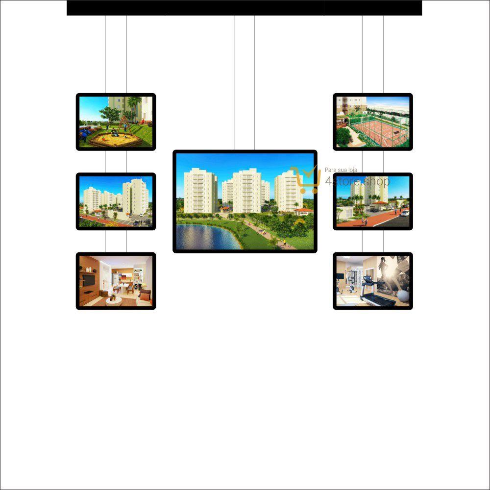 Painel de LED para Vitrines e Fachadas iluminadas de Imobiliária | 1 Display Tamanho A1 + 6 A3