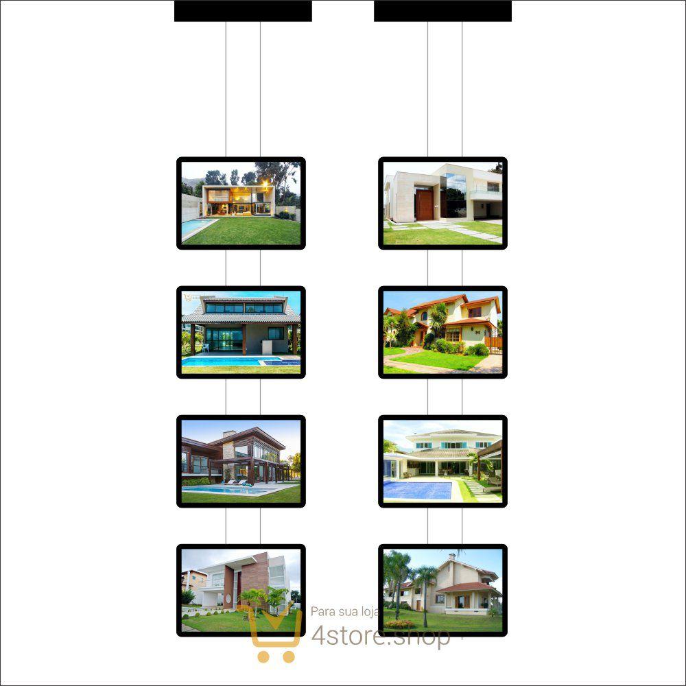 Painel de LED para Vitrines e Fachadas iluminadas de imobiliárias | 8 Display Tamanho A3