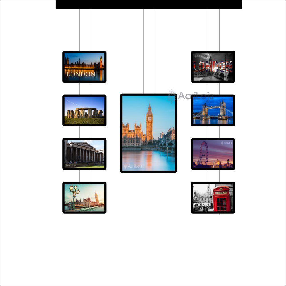 Painel de LED para Vitrines e Fachadas iluminadas de lojas | 1 Display Tamanho A1 + 8 A3