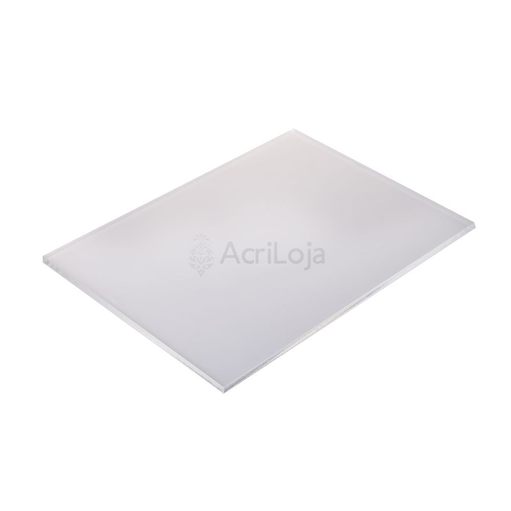 Placa de Acrilico Branco 100cm x 50cm Espessura 6mm, Chapa de Acrilico