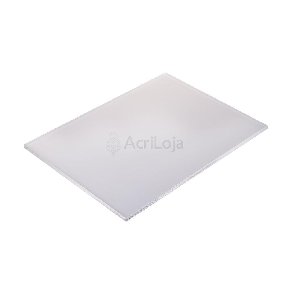 Placa de Acrilico Branco 50cm x 50cm Espessura 4mm, Chapa de Acrilico
