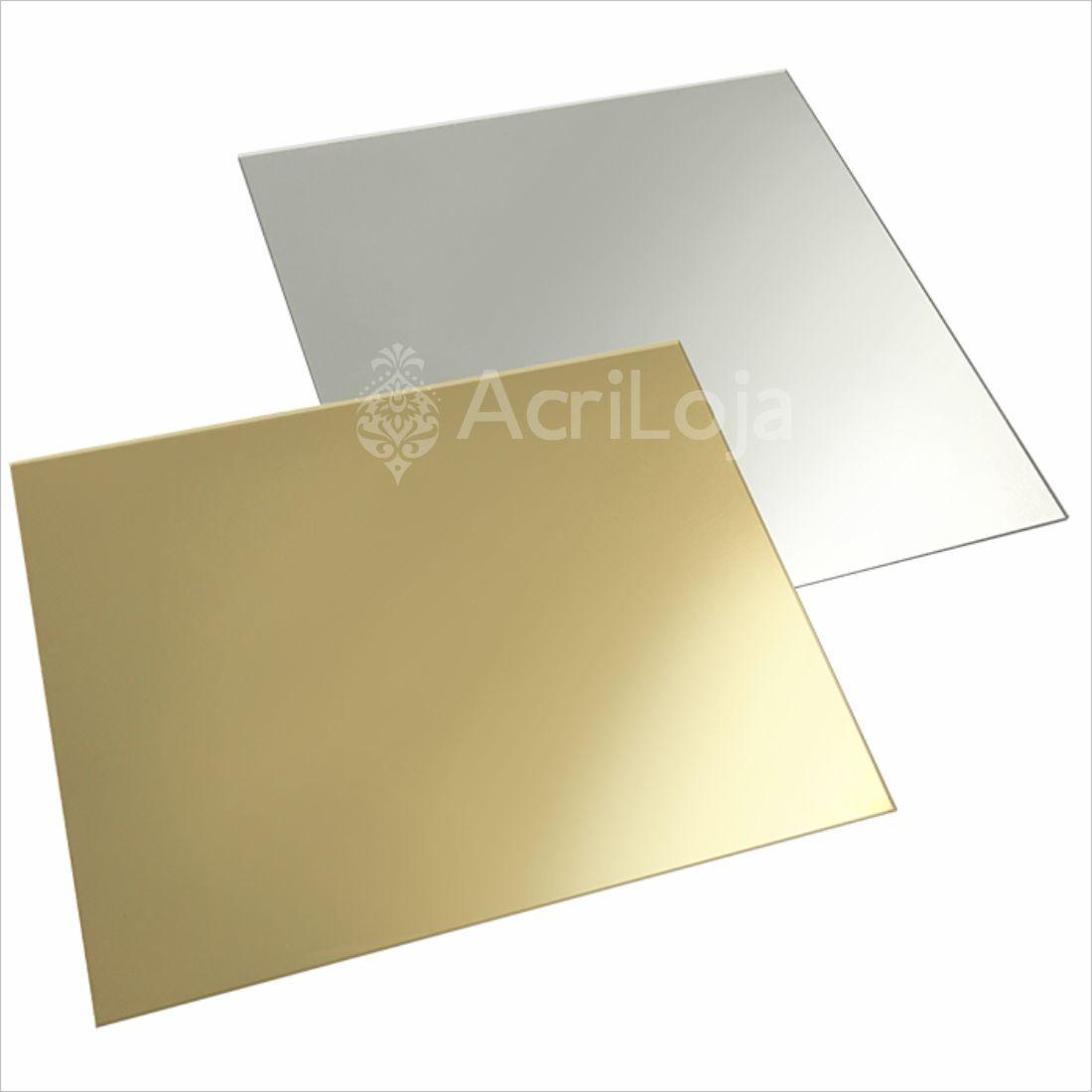 Placa de Acrilico Espelhado 100cm x 200cm Espessura 2mm, Chapa de Acrilico