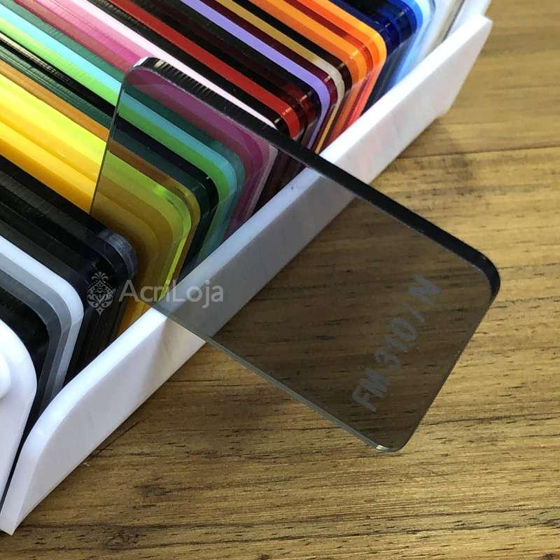 Placa de Acrilico Fumê Transparente Claro 100cm x 200cm, Chapa de Acrilico Fume FM-310