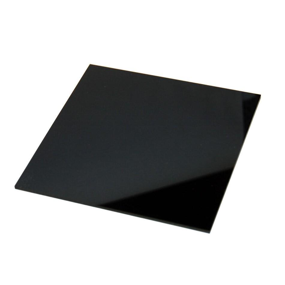 Placa de Acrilico Preto 50cm x 50cm Espessura 8mm, Chapa de Acrilico