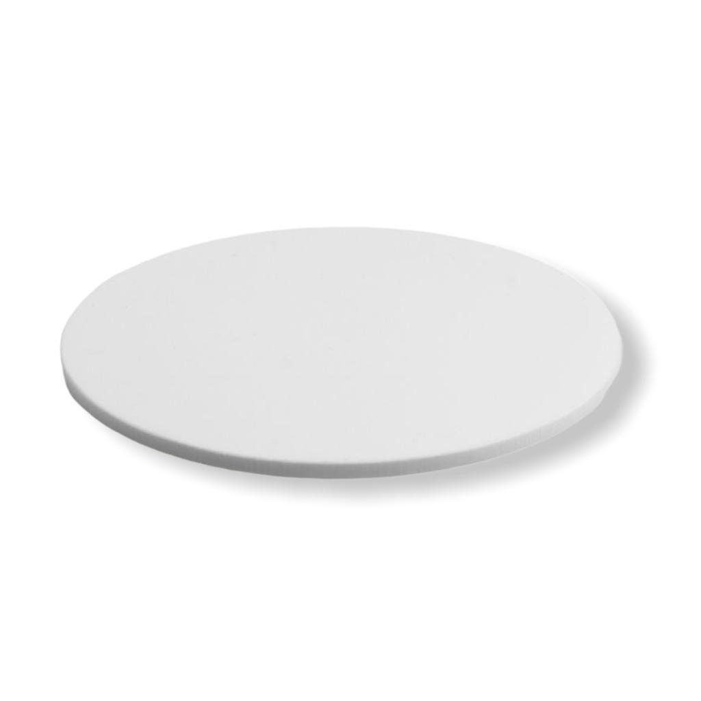 Placa de Acrilico Redonda Circular Branco com Diâmetro 10cm e Espessura 6mm, Chapa de Acrilico