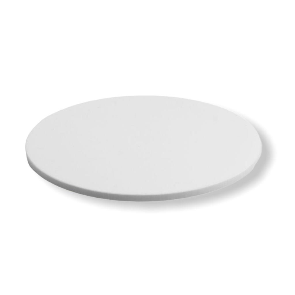 Placa de Acrilico Redonda Circular Branco com Diâmetro 30cm e Espessura 10mm, Chapa de Acrilico
