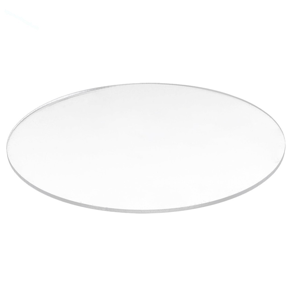 Placa de Acrilico Redonda Circular Cristal Transparente com Diâmetro 10cm e Espessura 2mm, Chapa de Acrilico