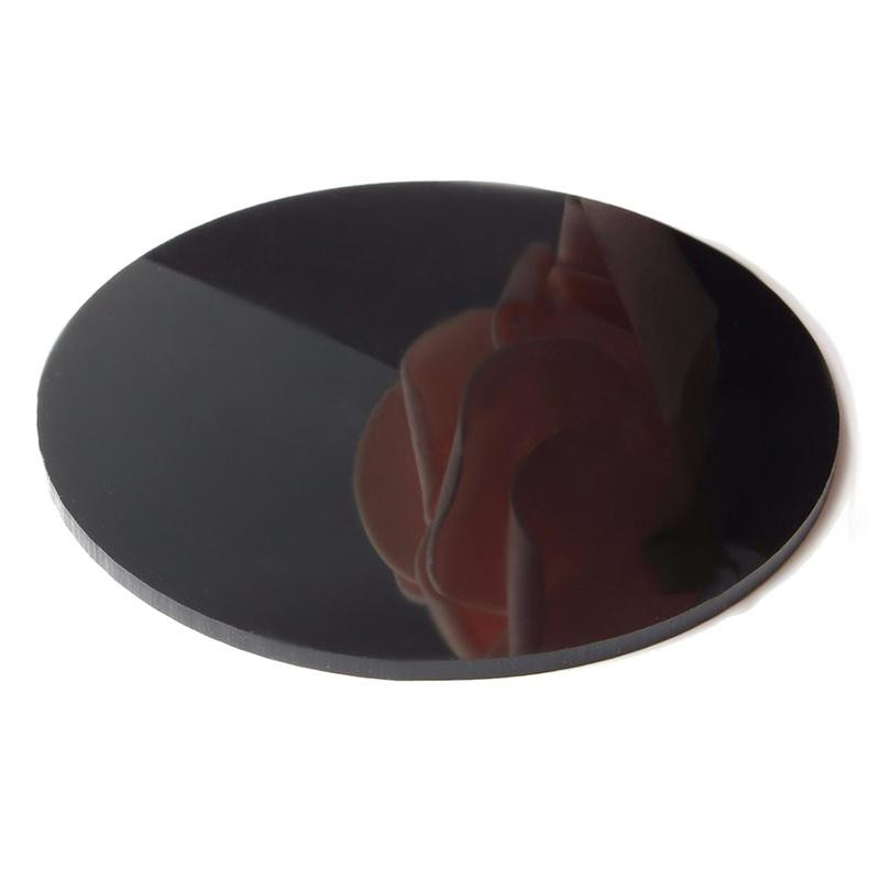 Placa de Acrilico Redonda Circular Preto com Diâmetro 10cm e Espessura 2mm, Chapa de Acrilico