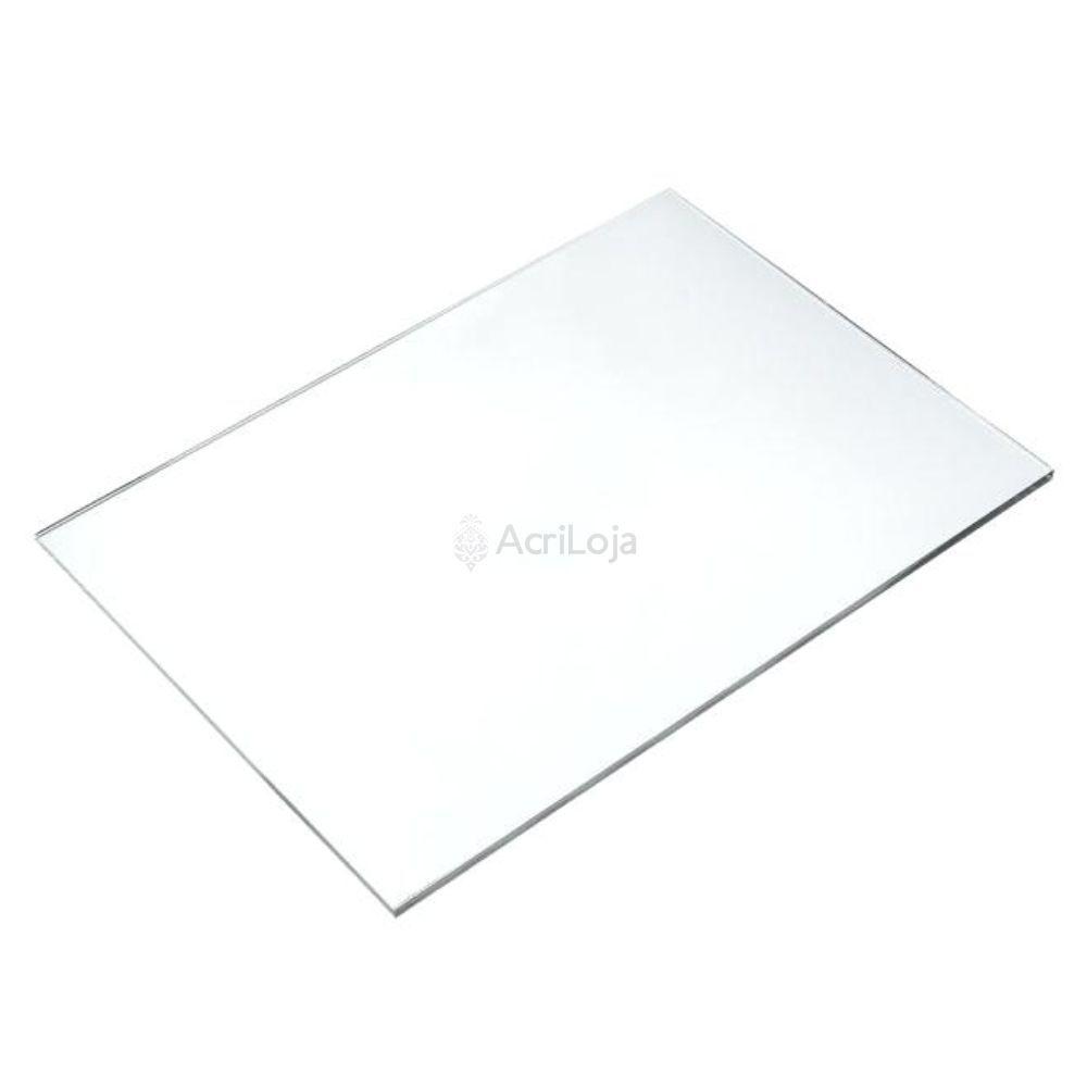 Placa de Acrilico Transparente 100cm x 150cm Espessura 10mm, Chapa de Acrilico Cristal, Incolor