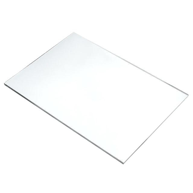 Placa de Acrilico Transparente 30cm x 30cm Espessura 4mm, Chapa de Acrilico Cristal, Incolor
