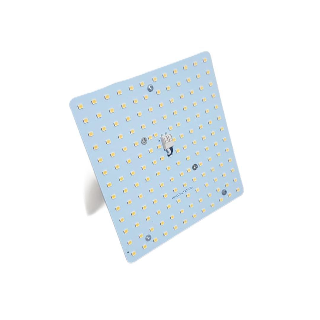 Placa de LED SMD Quadrado 13x13cm 15W Amarelo Quente