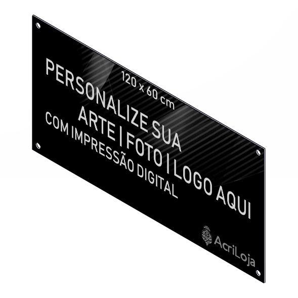 Placa, Quadro, Fachada de Acrilico Personalizada 120x60cm, Para Lojas, Empresas, Casas e Condomínios