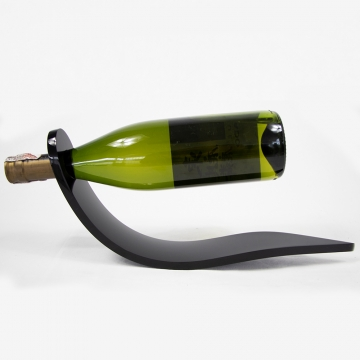 Porta Vinho de Mesa Para Uma Garrafa Em Acrilico Preto