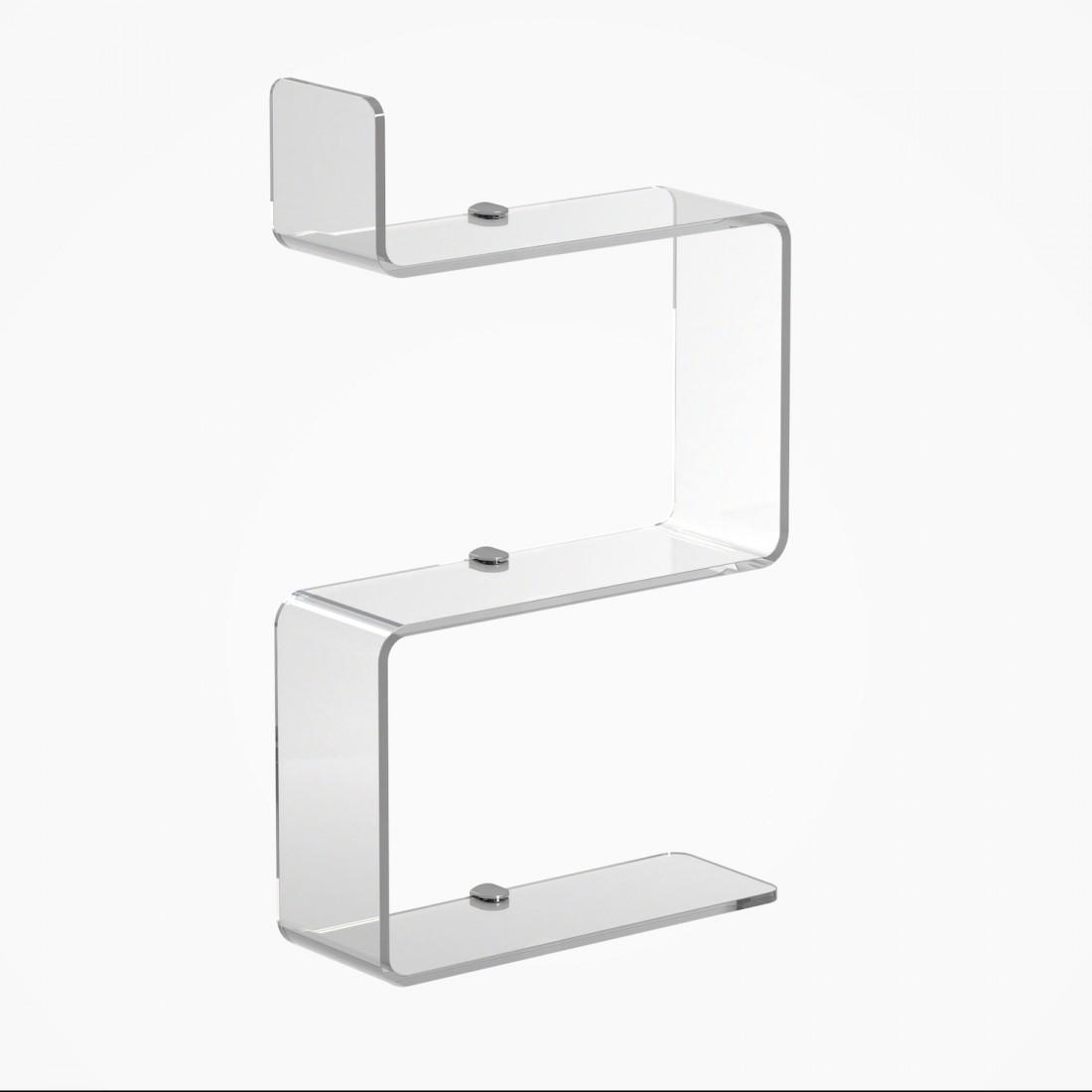 Prateleira de Acrilico Transparente com 3 andares Ideal para Banheiros
