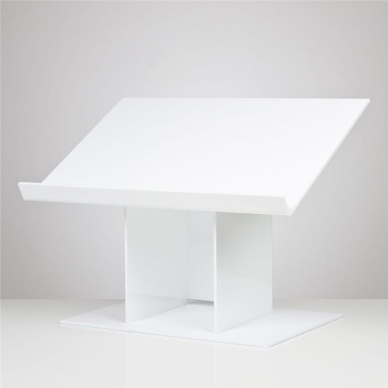 Púlpito de Mesa em Acrílico Branco Para Igrejas, Suporte de Bíblia