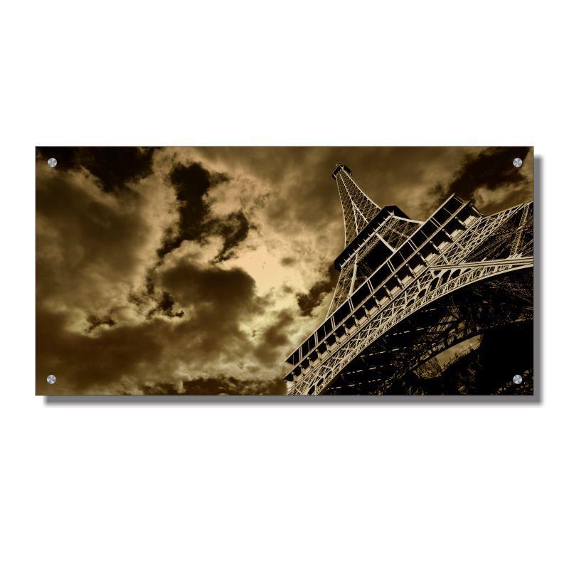 Quadro de Parede em Acrílico Cidade de Paris, Torre Eiffel, Quadro Decorativo Para Salas e Quartos